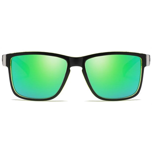 Luxe Wayfarer zonnebril - Groen Gepolariseerd