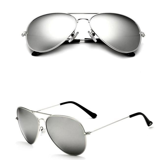 Pilotenbril Zilver  - gepolariseerd