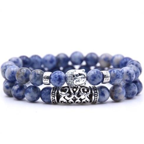 Armband Boeddha - Blauw