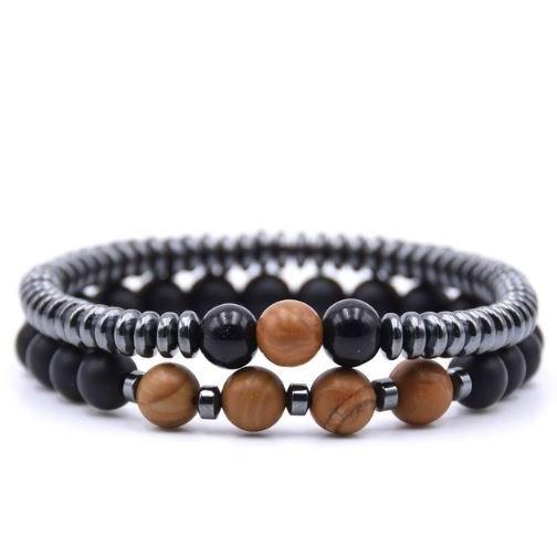 Armband Classy - Bruin / Zwart