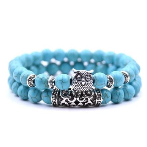 Armband Uil - Blauw