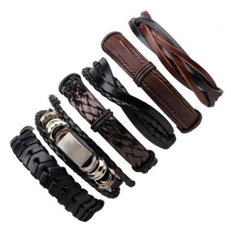 Leren Armband - Zwart / Bruin