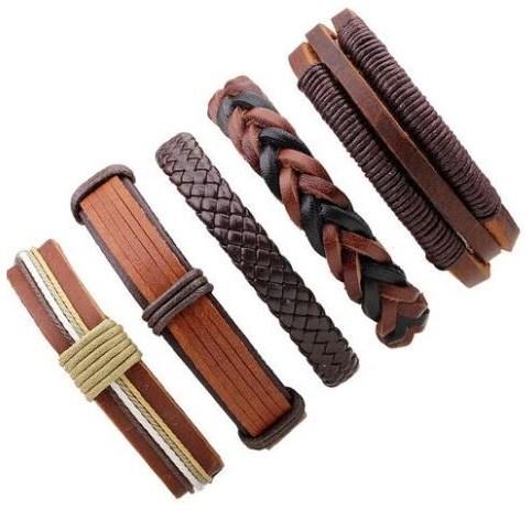 Leren Armband - Bruin