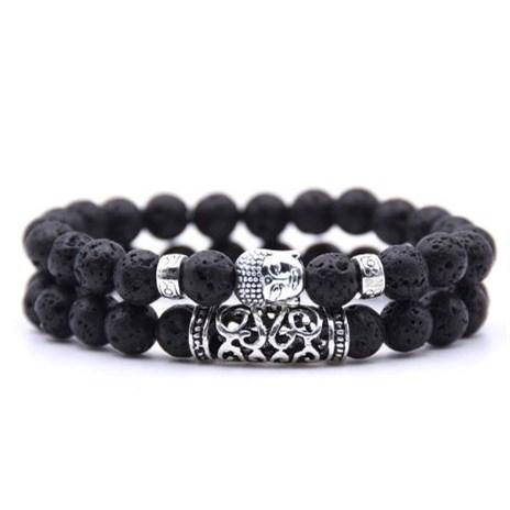 Armband Boeddha - Zwart