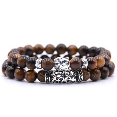 Armband Boeddha - Zwart / Bruin