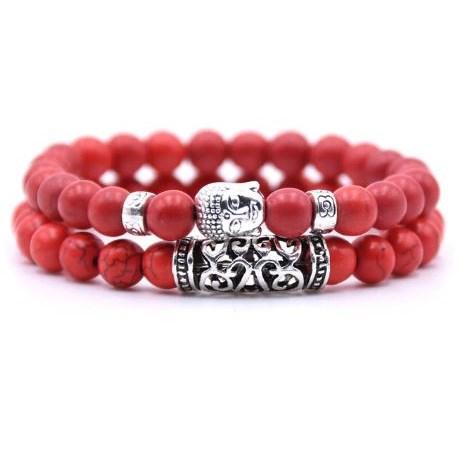 Armband Boeddha - Rood