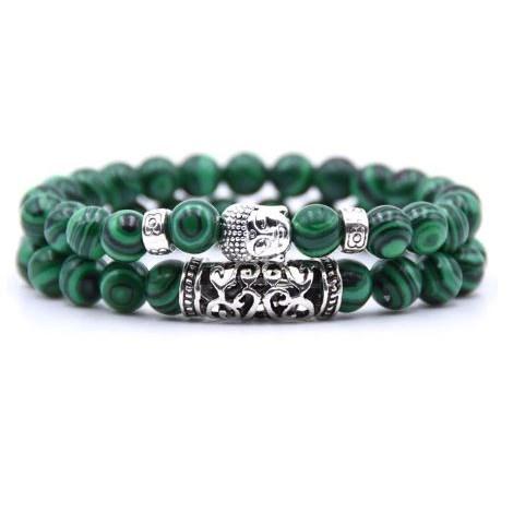 Armband Boeddha - Groen