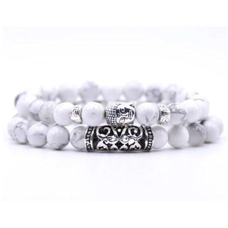 Armband Boeddha - Wit