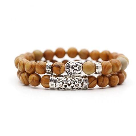 Armband Boeddha - Bruin
