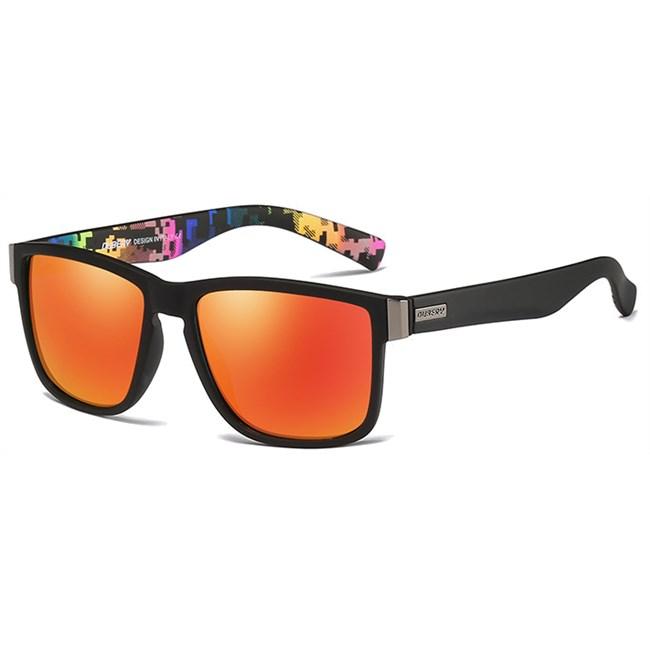 Luxe Wayfarer zonnebril - Oranje Gepolariseerd