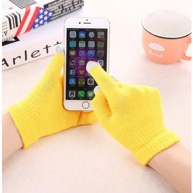 Touchscreen Handschoenen - Geel