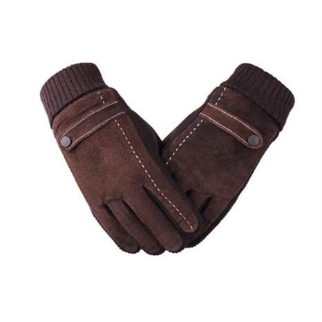 Touchscreen Handschoenen Leer - Bruin