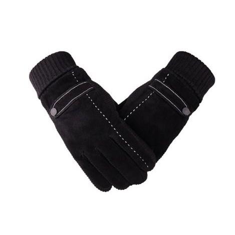 Touchscreen Handschoenen Leer - Zwart