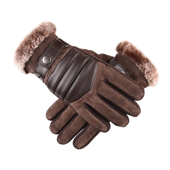 Touchscreen Handschoenen Leer (H) - Bruin