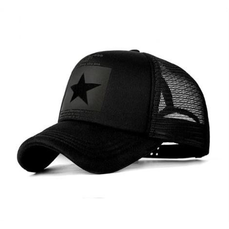 Truckercap  Ster - Zwart