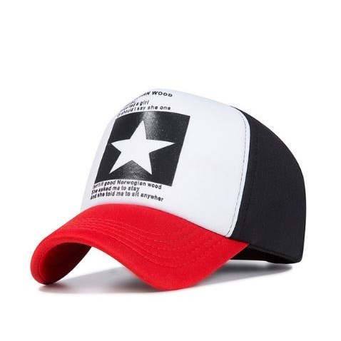 Truckercap Ster - Rood/Wit