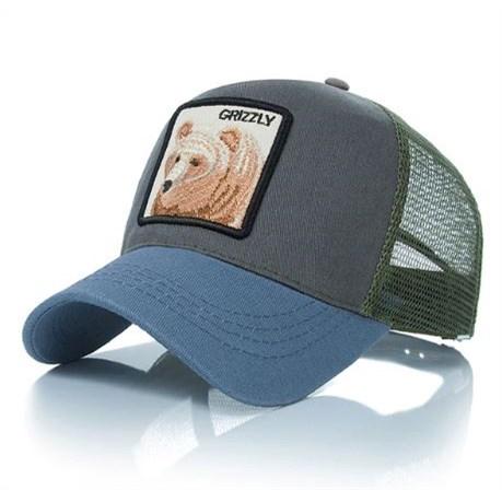 Truckercap Grizzly - Blauw