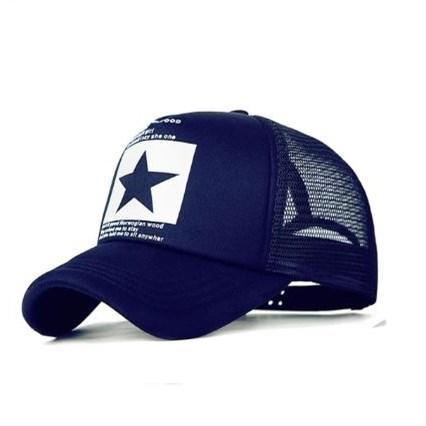 Truckercap Ster - Blauw/Wit