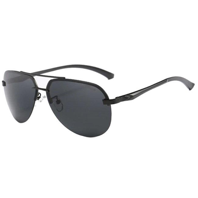 Randloze aviator zonnebril - Zwart Gepolariseerd