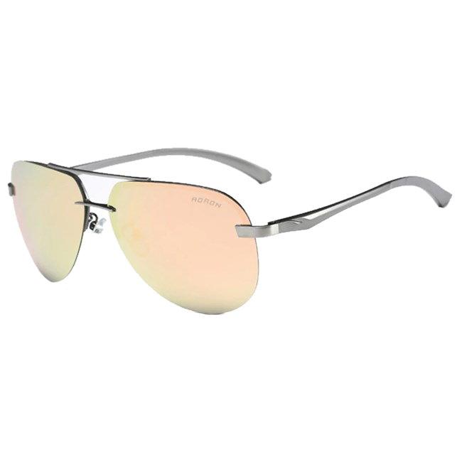 Randloze aviator zonnebril - Roze Gepolariseerd