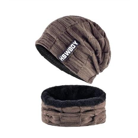 Wintermuts met sjaal - Bruin