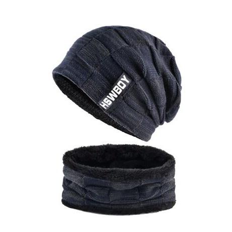 Wintermuts met sjaal - Blauw