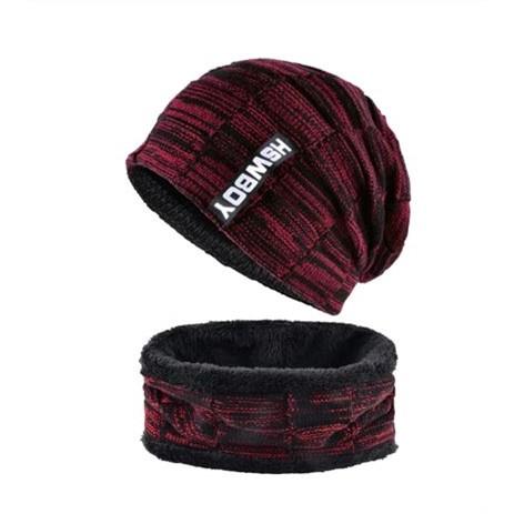 Wintermuts met sjaal - Rood