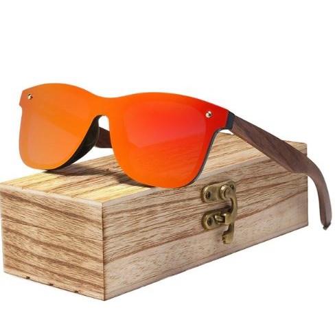 Houten Zonnebril - Oranje