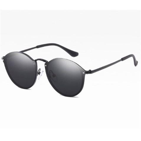 Ronde Zonnebril - Spiegelglazen Zwart