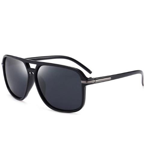 Oversized Zonnebril - Zwart gepolariseerd