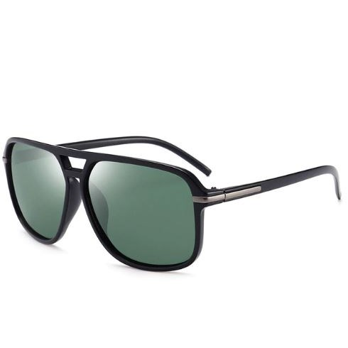 Oversized Zonnebril - Groen gepolariseerd