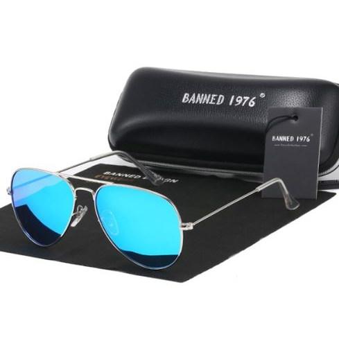 Pilotenbril IJsblauw - Gepolariseerd