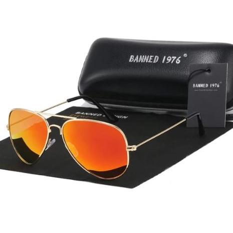 Pilotenbril Oranje - Gepolariseerd