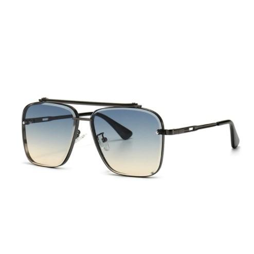 Oversized vintage zonnebril - Paars-Blauw/Grijs